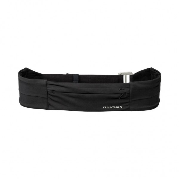 Nathan Adjustable Fit Zipster - Laufgürtel mit Reißverschluss Schwarz - NS7704-0015