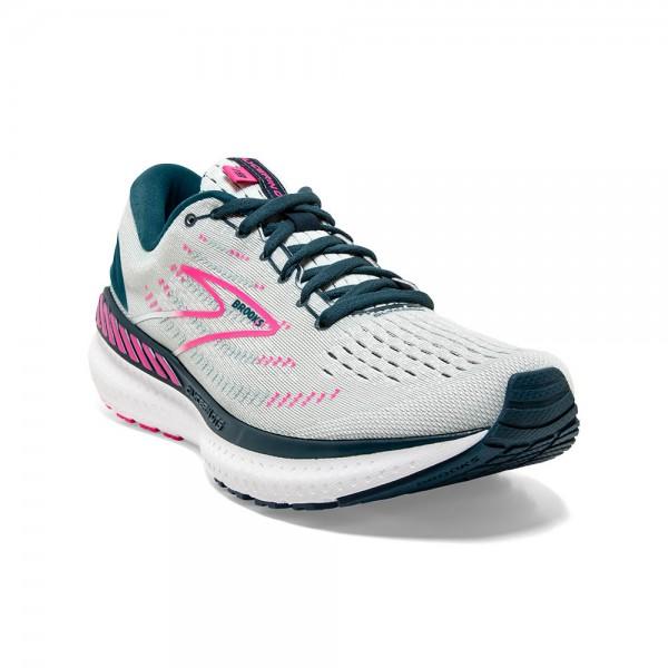 Brooks Glycerin GTS 19 D-Weite (breit) Damen Laufschuh Stabilität 120344 1D 110 - Farbe Ice Flow/Navy/Pink