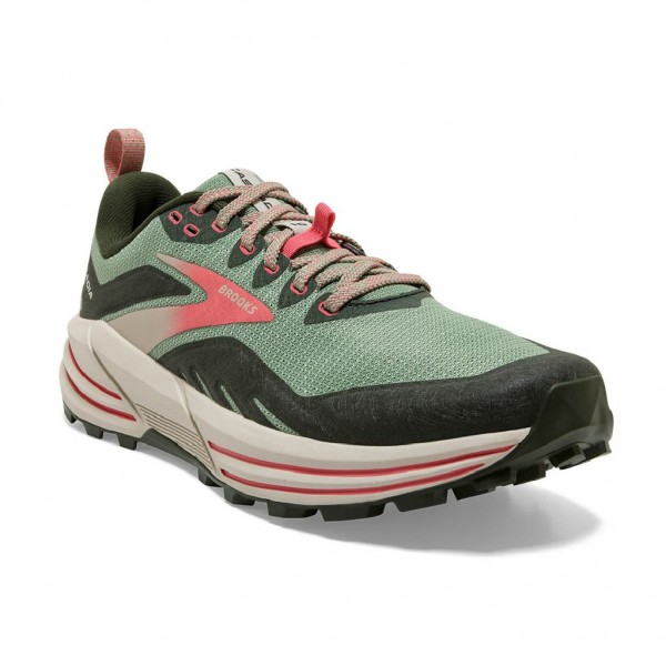 Brooks Cascadia 16 Damen Laufschuh Trail - 120363 1B 394 Basil/Duffel Bag/Coral