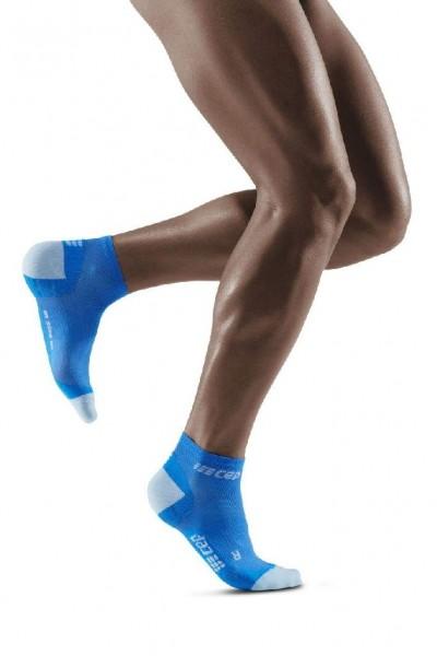 CEP Ultralight Compression Low Cut Socks - Herren Kompressionssocke - WP3AKY Electric Blue-Light Grey