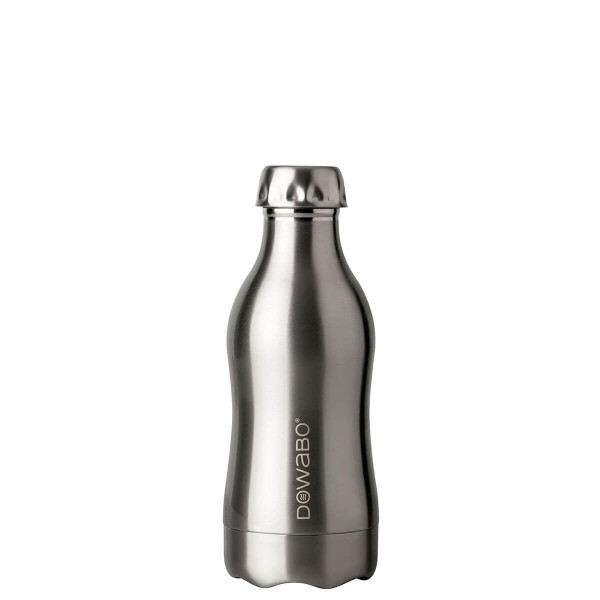 DOWABO Isolierflasche - Edelstahl Flasche - 350 ml Pure Steel Collection Pure Steel - DO-035-pur-ste