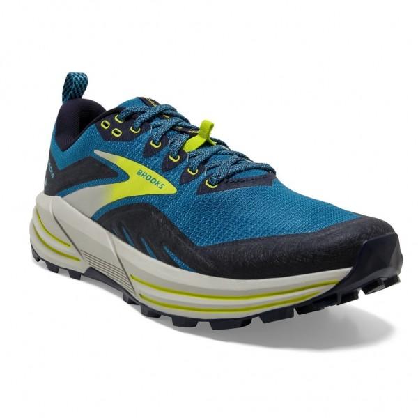 Brooks Cascadia 16 Herren Laufschuh Trail - 110376 1D 469 Mykonos Blue/Peacoat/Lime