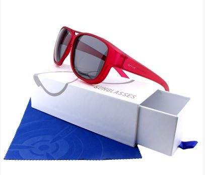 ActiveSol Überzieh-Sonnenbrille  Flieger Pilotenbrille El Aviador UV400 Schutz polarisiert  - rot - 101807