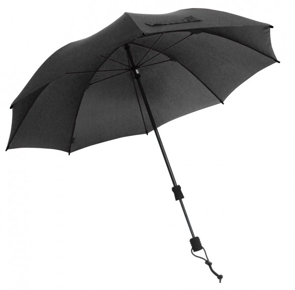 Euroschirm Swing handsfree - Der erste echte handfreie Trekking-Stockschirm - Regenschirm - schwarz -W2H6
