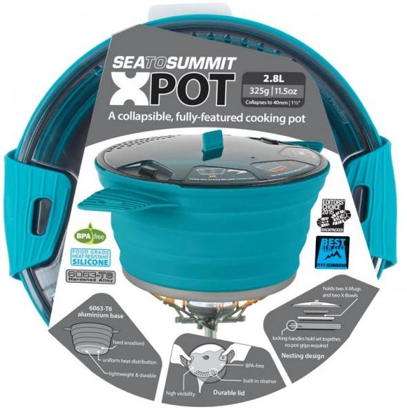 Sea to Summit X-Pot 2.8 Liter - Pacific Blue