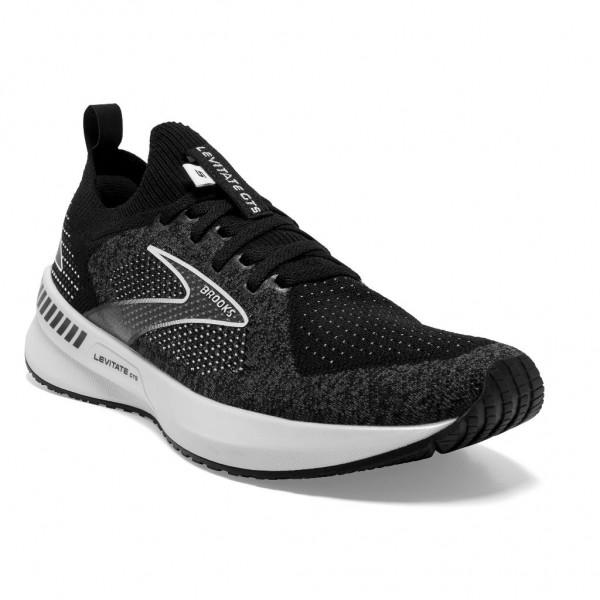 Brooks Levitate StealthFit GTS 5 Damen Laufschuh Stabilität - 120360 1B 090 Black/Grey/White