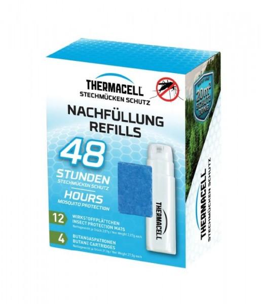 Thermacell Nachfüllpack 48h, enthält 4 x Gaskartuschen und 12 x Wirkstoffplättchen