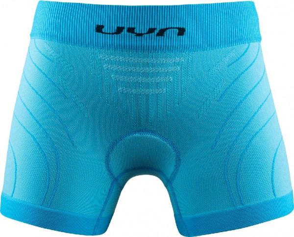 UYN Baselayer Motyon 2.0 Damen Boxershorts, Fahrradunterhose mit Pad - U100160 A950 Aquarius/Anthrac