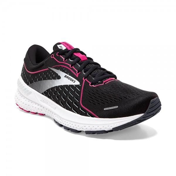 Brooks Adrenaline GTS 21 Damen Laufschuh Stabilität - 120329 1B 054 Black/Raspberry Sorbet/Ebony