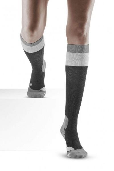 CEP Hiking Light Merino Socks - leichte Damen Wandersocke - WP20A5 stonegrey/grey