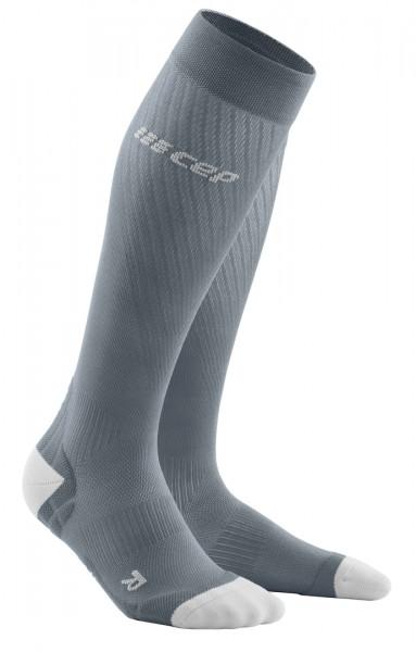 CEP - Run Ultralight Socks Damen | extra leichte, lange Kompressionssocke - Grau - WP40JY