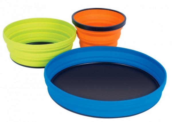 Sea to Summit X-Set 3-Piece (X-Mug,X Bowl, X Plate & Storage Pouch) - 3 teiliges Set - AXSET3
