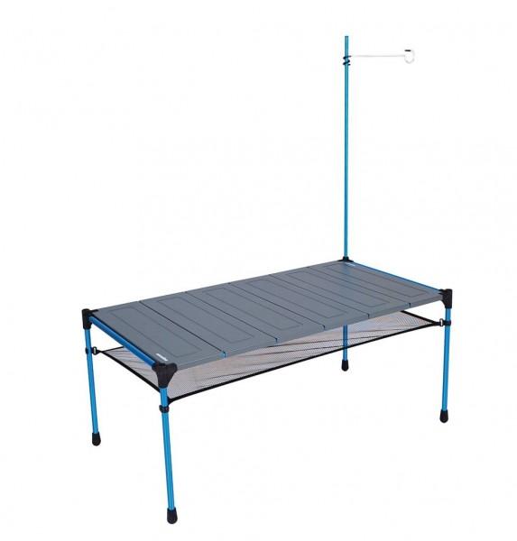 Snowline Cube Family Tabel L6 grey, großer Aluminium-Falttisch, Campingtisch für die Familie - 3964-000 Aluminium
