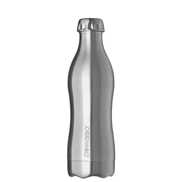 DOWABO Isolierflasche - Edelstahl Flasche - 500 ml Pure Steel Collection Pure Steel - DO-05-pur-ste