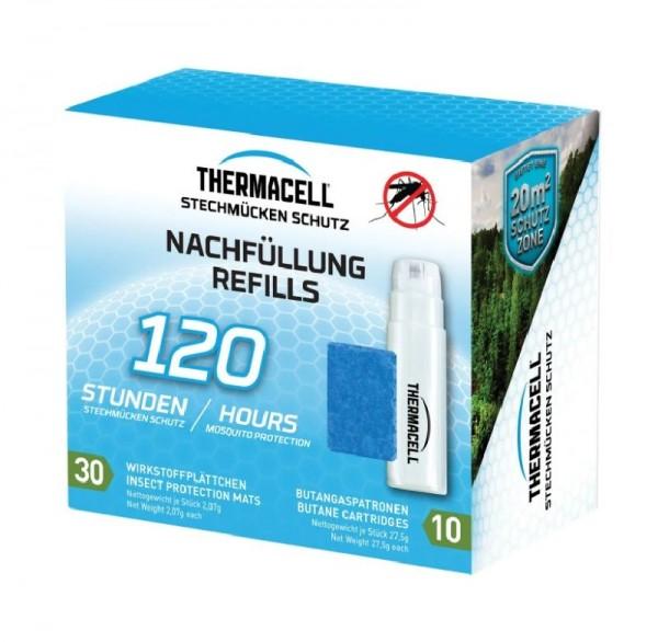 Thermacell Nachfüllpack R-10 für 120h, enthält 10 x Gaskartuschen und 30 x Wirkstoffplättchen