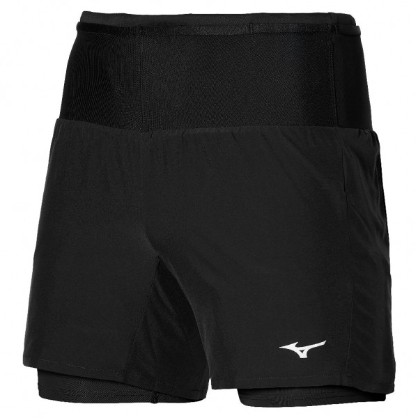 Mizuno Men Multi Pocket 7.5 2in1 Short - Laufshorts Herren - J2GB157509 Farbe Black
