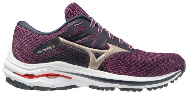 Mizuno Wave Inspire 17 Damen Laufschuh Stabilität - J1GD214442 Farbe IndiaI/PGold/IgnitionRed