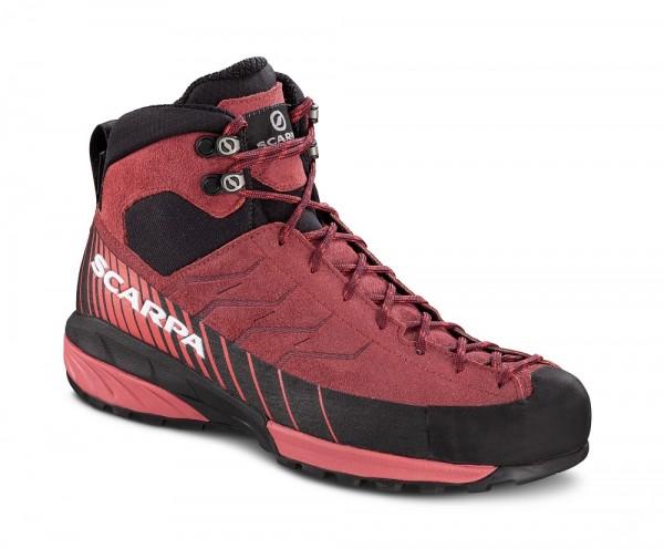 Scarpa Mescalito Mid GTX Damen Zustiegsschuh Gore-Tex - 72096G-L-0218 - Farbe Brown Rose/Mineral Red