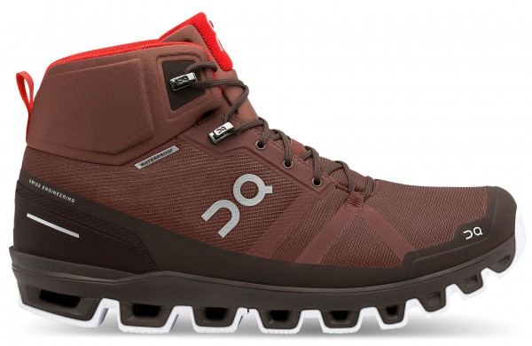 On Cloudrock Waterproof Herren Wanderschuh - 23.99855 Cocoa | Red