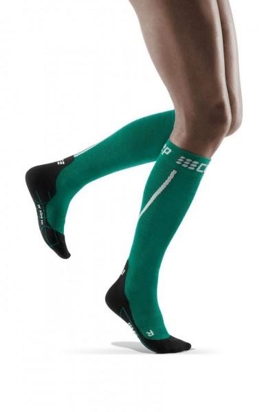 CEP Winter Run Socks Damen Compression Laufsocke - Grün - WP40MU