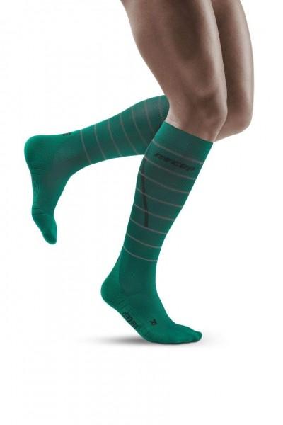 CEP Reflective Socks Herren Compression Laufsocke - Grün - WP50GZ