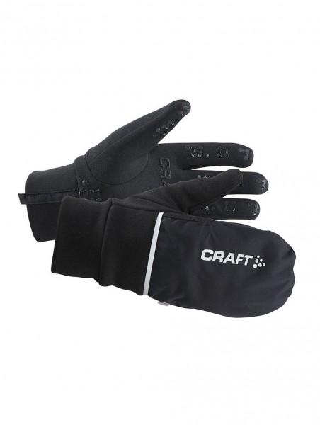 CRAFT Hybrid Weather Glove, wasserdichter 2-in-1-Handschuh und Fäustling - 1903014-9999 Black