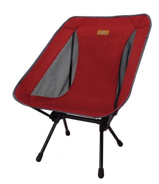 Snowline Chair Lasse Plus Dark Red, Faltstuhl, leichter Campingstuhl aus Aluminium - 3918-400