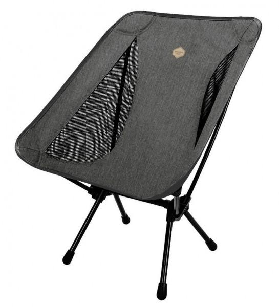 Snowline Chair Lasse Plus Dark Grey, Faltstuhl, leichter Campingstuhl aus Aluminium - 3918-800