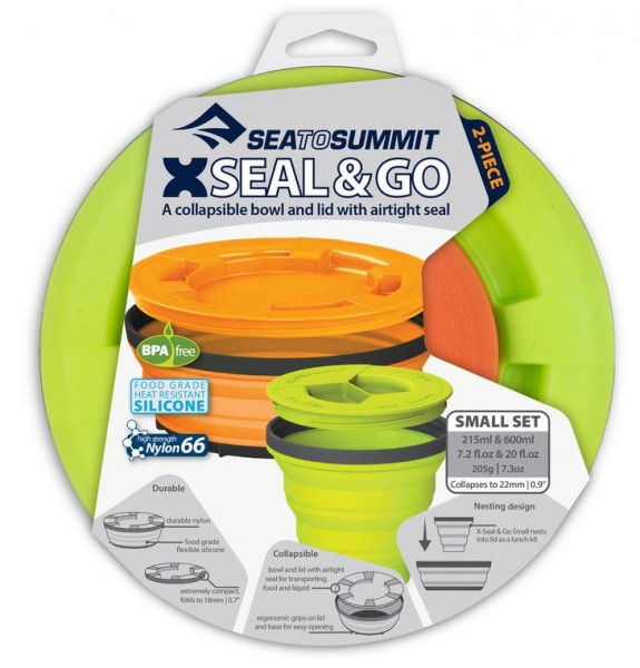 Sea to Summit X-Seal & Go Small Lime / Orange Set verschliessbare Lebensmittelcontainer