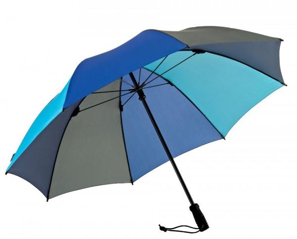 Euroschirm Swing handsfree - Der erste echte handfreie Trekking-Stockschirm - Regenschirm - blau-grün-  W2H6