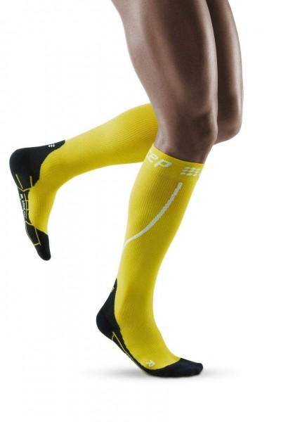 CEP Winter Run Socks Herren Compression Laufsocke - Gelb - WP50GU