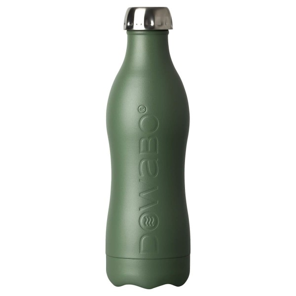 DOWABO einwandige Edelstahl-Flasche - 800 ml Olive - DS-08-ear-oli