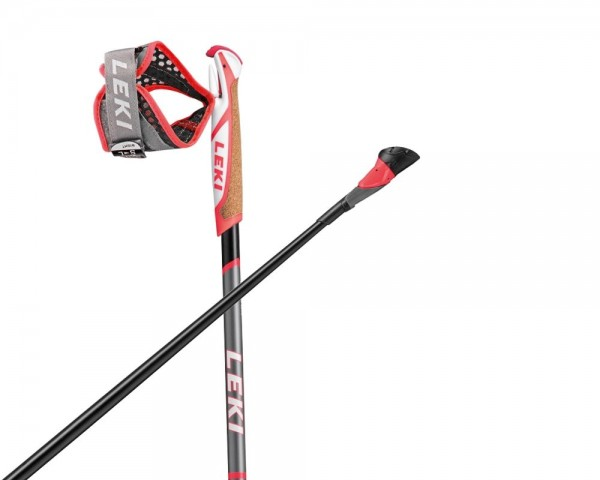 Leki Smart Flash Nordic Walkingstock Schwarz-Grau-Weiss-Rot - 6502540