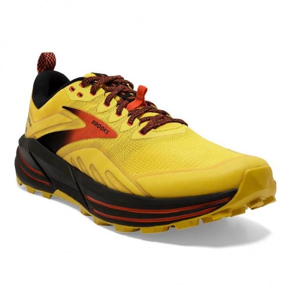 Brooks Cascadia 16 Herren Laufschuh Trail - 110376 1D 745 Yellow/Black/Grenadine
