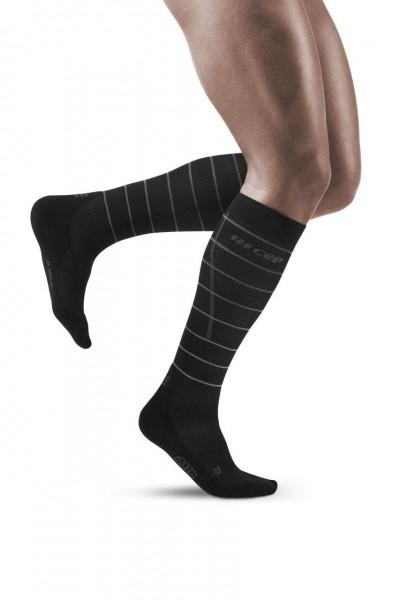 CEP Reflective Socks Herren Compression Laufsocke - Schwarz - WP505Z