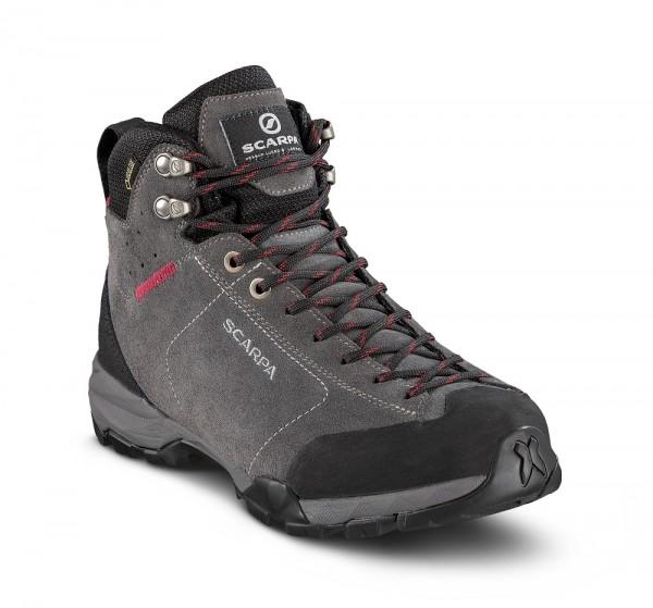 Scarpa Mojito Hike GTX Damen Wanderschuh Gore-Tex - 63311G-L-0213 - Farbe Shark/ Red Rose