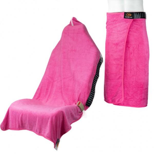 Orange Mud Transition Wrap 2.0 - Sporthandtuch Autositzbezug Umziehhilfe - Hot Pink