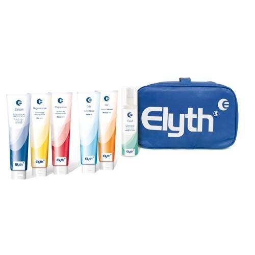 Elyth Testset Köfferchen Reissverschlusstasche mit Elyth Produkten