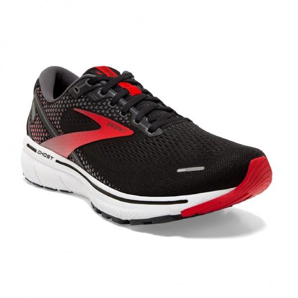 Brooks Ghost 14 2E Weite (breit) Herren Laufschuh Neutral - 110369 2E 063 Black/Red/White
