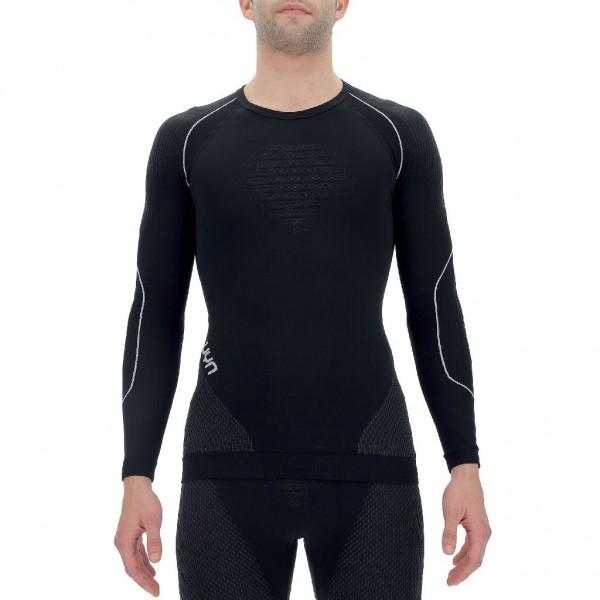 UYN Evolutyon Baselayer Shirt Herren Funktionsunterwäsche LS - U100006-B472 Blackboard/Anthracite/White