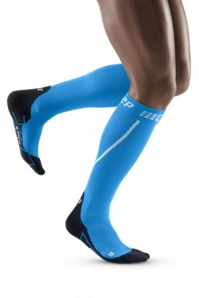 CEP Winter Run Socks Herren Compression Laufsocke - Blau - WP50NU