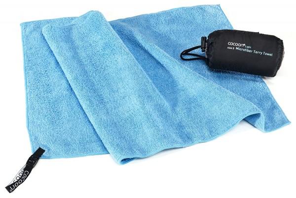 Cocoon Terry Towel light - leichtes Mikrofaserhandtuch, light blue, L, 120x60cm,TTE01-L
