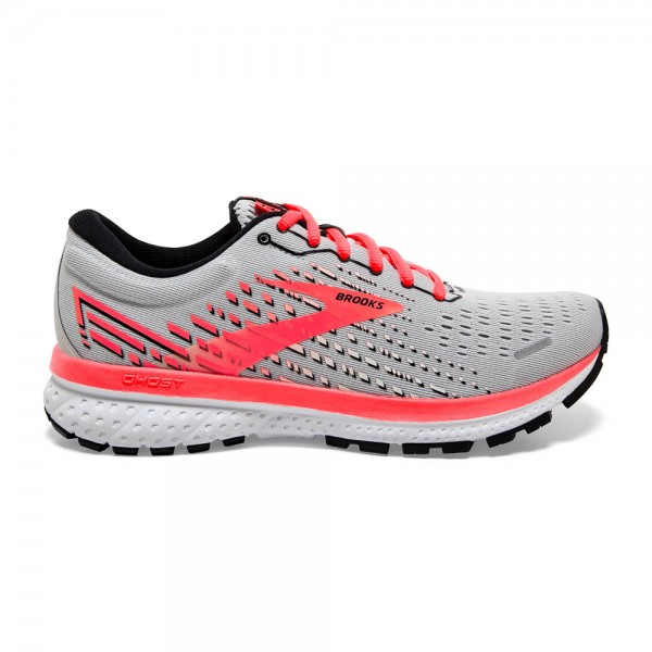 Brooks Ghost 13 Damen Laufschuh Neutral - 120338 1B 053 Farbe Grey/Fiery Coral/White