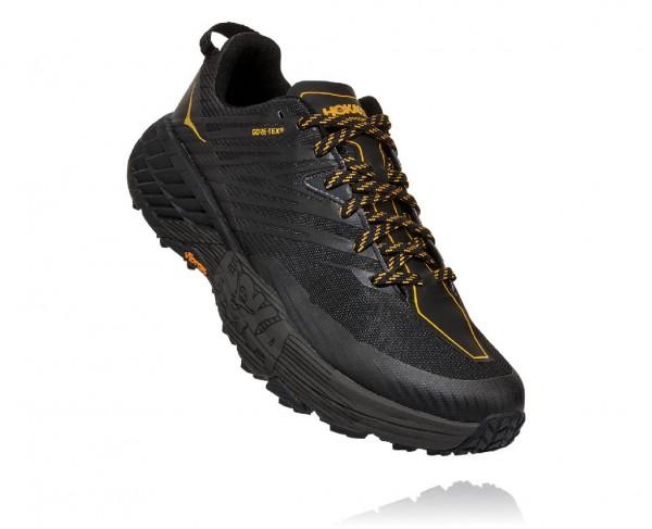 Hoka Speedgoat 4 GTX Herren Laufschuh Trail wasserdicht - 1106530-ADGG Anthracite/DarkGullGrey