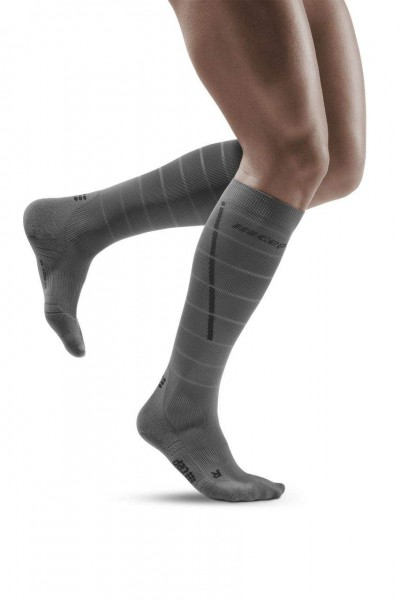 CEP Reflective Socks Herren Compression Laufsocke - Grau - WP502Z