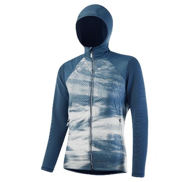 Löffler W Hooded Hbrd Jacket Speed PL Active Damen Sportjacke  - 25301-461 Enzian