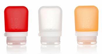 humangear 'GoToob' 3er Pack 3 x 53 ml transparent, rot, orange