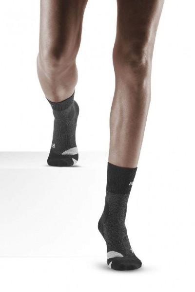 CEP Hiking Merino Compression Mid Cut Socks - Damen Kompressions Wandersocke - WP2CA4 stonegrey/grey