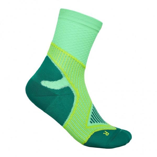 Bauerfeind Outdoor Performance Mid Cut Socks - Damen Trekkingsocken - Farbe Grün