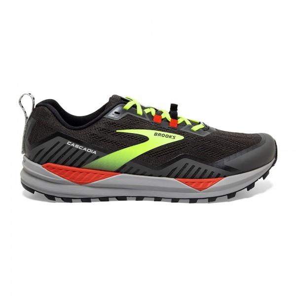 Brooks Cascadia 15 2E-Weite (breit) Herren Laufschuh Trail - 110340 2E 076 Black/Raven/Cherry Tomato